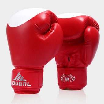 Harga 10OZ Professional Boxing Gloves Boxing Tournament WBO WBC WBA IBF Red (39.0.5) - intl