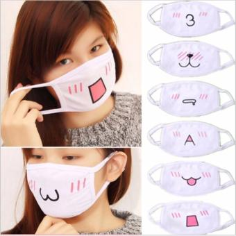 10Pcs Kawaii Anti Dust mask Kpop Cotton Mouth Mask Cute Anime Cartoon Mouth Muffle Face Mask Emotiction Masque Kpop masks - intl Price Philippines