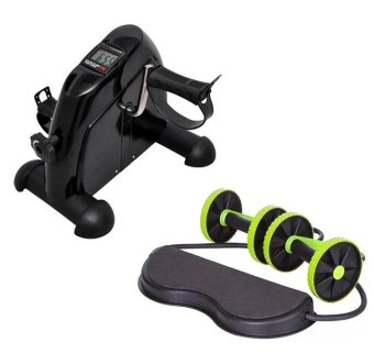 Harga Mini Pedal Exerciser w/ LCD Display Indoor Exercise Bike Resistance Adjustable With Revoflex Xtreme Muscle Toning Kit