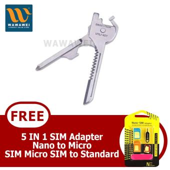 Wawawei Multi Function 6 In 1 Utili-key Screwdrivers Bottle Opener Knife Blades With FREE 5 in 1 Sim Adapter Price Philippines