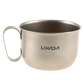 LIXADA 100% Titanium Mug Outdoor Ultralight Portable Camping Picnic Water Cup 550ml Price Philippines