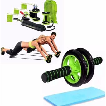 Harga Revoflex Xtreme (Green) With Abdominal Wheel AB Roller Exercise with Brake (Green/Black)