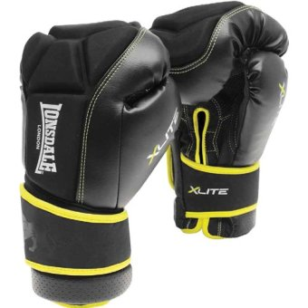Harga LONSDALE X-LITE BAG GLOVE (BLACK/ACID GREEN) SMALL/MEDIUM