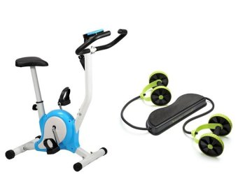 Harga Upright Stationary Bike (Blue) and with Revoflex Xtreme