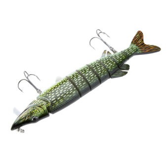 "LIXADA 8"" / 20cm 67g Lifelike Multi-jointed 8-segement Pike Muskie Fishing Lure with Mouth Swimbait Crankbait Hard Bait Fish Treble Hook Tackle Price Philippines"