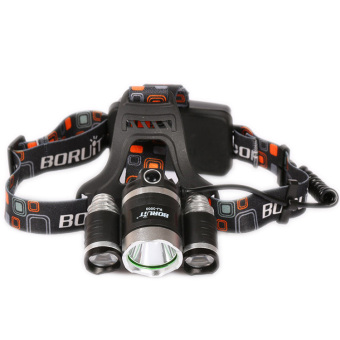 Harga Boruit 5000lm 3 x CREE XM-L T6 LED Headlamp with 4 Modes Headlight Head torches