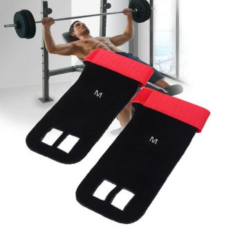 Weight Lifting Pull Up Hand Grip Palm Protectors Fitness Gloves (red/m) - intl Price Philippines