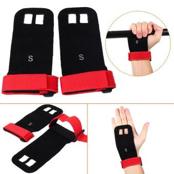 Weight Lifting Pull Up Hand Grip Palm Protectors Fitness Gloves (red/s) - intl Price Philippines