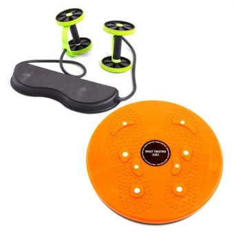 Harga Revoflex Xtreme (Green) with Waist Twisting Disc Healthy Massager (Orange)