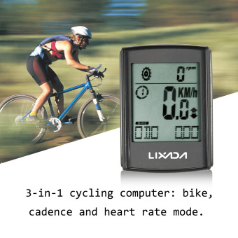 LIXADA Multifunctional 3-in-1 Wireless LCD Bicycle Cycling Computer with Cadence Heart Rate Monitor Chest Strap Water-resistant Price Philippines