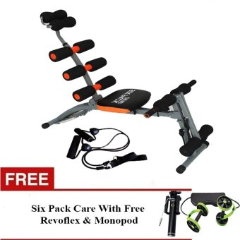 Harga Six Pack Care Exercise machine fitness equipment With Free Revoflex Xtreme Workout & Monopod