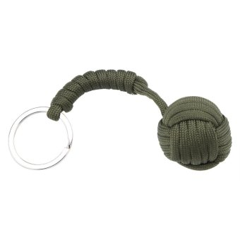 Harga Outdoor Survival Parachute Cord lanyard Self-defense Keychain (Army Green) - intl