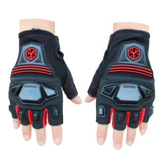 360DSC Scoyco MC24 Outdoor Sportswear Protective Gear Cycling Motocycle Racing Half Finger Gloves - Red Price Philippines