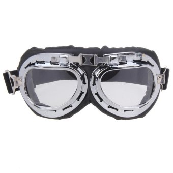 Retro Harley Motorcycle Bike Goggles(Clear) - intl Price Philippines