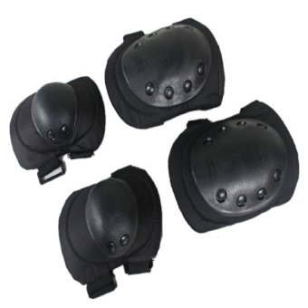 Tactical Knee and Elbow Pad Protection Sets for Adult Black Price Philippines