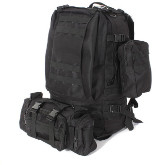 50L Molle 3D Assault Tactical Outdoor Military Rucksacks Backpack Camping Bag Black Price Philippines