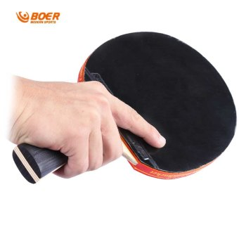 BOER S5 Table Tennis Rackets Pimples-in Rubber Bat for Fast Attack Type Player (Intl) Price Philippines