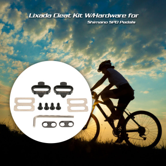 Lixada Bicycle Mountain Cleat Biking MTB Cleat Set Clips Kit W/Hardware Nuts Clip-in Cleats for Shimano SPD Pedals - intl Price Philippines