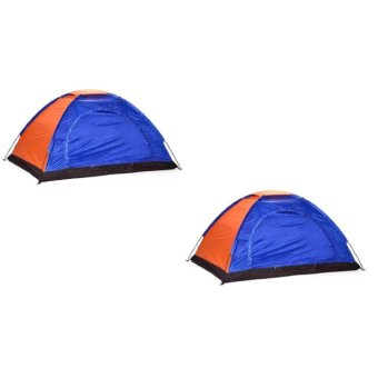Big Bash 2-4 Person Camping Backpacking Tent With Carry Bag Set of 2 (Color May Vary) Price Philippines