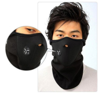 Full Surround Mask With Earmuff Neck Protector Anti-Dust&Storm Ski Cycle Warm Pollution Mask Thick Windproof Mouth-muffle Masks 3 Colors (Black) Price Philippines