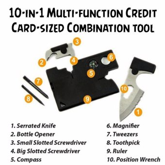 10-in-1 Multi-function Credit Card-sized Combination tool Price Philippines