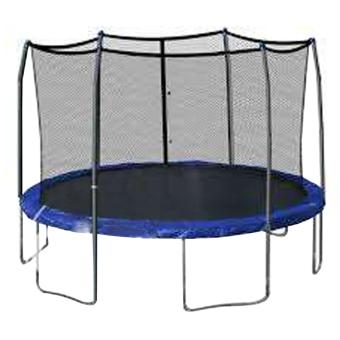 Harga New Unicorn 10 Feet Trampoline with Safety Net (Blue)