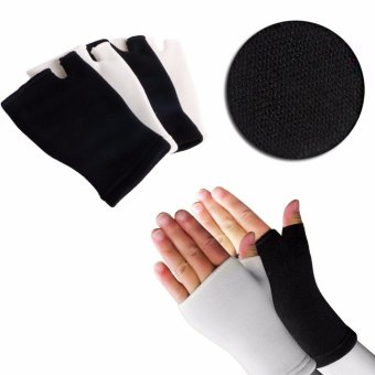 Harga 2pcs Elastic Palm Glove Hand Wrist Supports Arthritis Brace Sleeve Support - intl