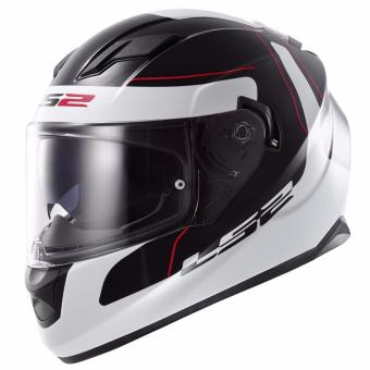 Harga LS2 Full-Face FF320 Lunar Helmet Medium (Black/White)