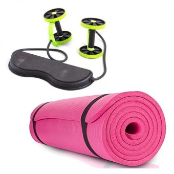 Harga Revoflex Xtreme (Green) with Extra Thick High Density Anti-Tear Exercise Yoga Mat with Carrying Strap (Pink)