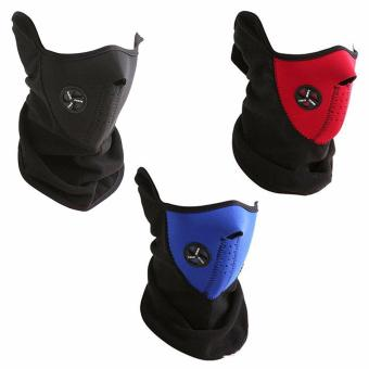 3 pieces Neoprene Motor Motorcycle Bike Bicycle X SPORT Half Face Mask 3 colors Masks Price Philippines