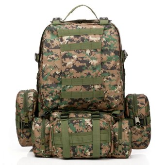 50L Molle 3D Assault Tactical Outdoor Military Rucksacks Backpack Camping Bag Digital Jungle Price Philippines