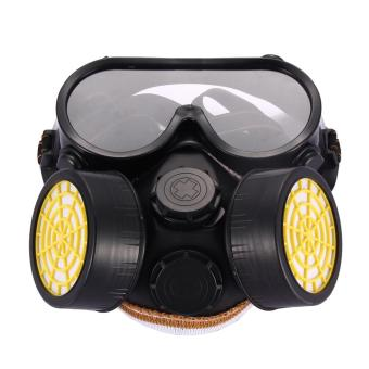 Industrial Gas Chemical Anti-Dust Paint Respirator Mask Glasses Goggles Set - intl