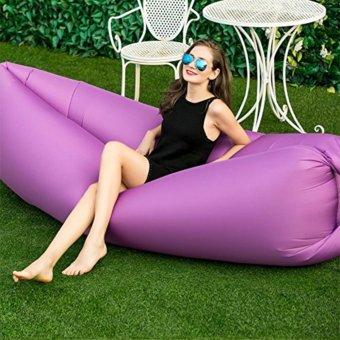 J&J Fast Inflate Air Bed Lazy Sleeping Bed Folding Sofa/Chair(Purple)