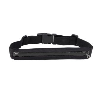 JANGO Sports Zipper Waist Belt Bag Wallet Pocket Running Jogging Pouch Travel Bag (Black) - INTL