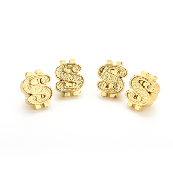 Jetting Buy Tire Air Valve Stem Valve Caps Gold Dollar Car 4 Pcs - picture 2