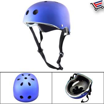 Kids/Adult Bmx Nutshell Bike Cycling Protective Helmet (Blue) Buy 1Take 1 - 2
