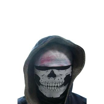 Kinglan Skull Bandana Face Mask for Motorcycle (Black) - intl - 2