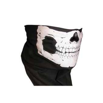Kinglan Skull Bandana Face Mask for Motorcycle (Black) - intl