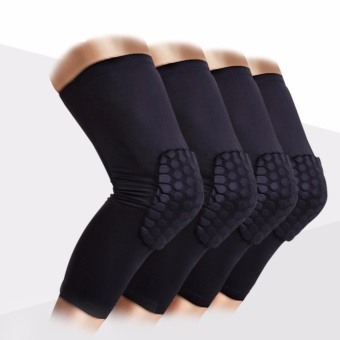 Knee brace Honeycomb kneepad elbow support Basketball Leg Sleeve Breathable Sport Bumper Barce knee pad(Size M) - intl