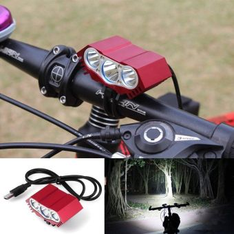 Lamp XML 3X T6 7500 Lm LED Bicycle Bike Torch Light Lamp Headlight Headlamp