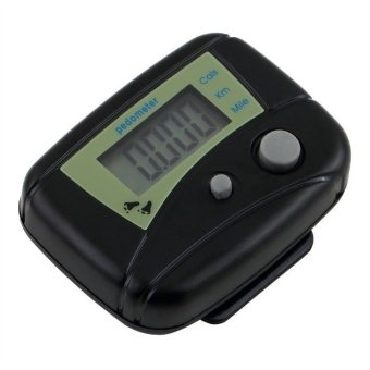 LCD Pedometer Step Calorie Counter Walking Distance Outdoor Sport Pedometer Black Speed Pedometer