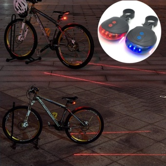 LED Bike Rear Light 5 LED+ 2 Laser Tail Light MTB Safety Warning Bicycle Bike Light Night Mountain Lamp Bike Accessories - intl