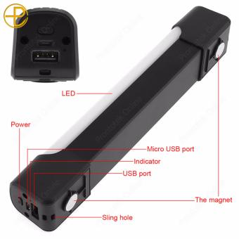 LED Strip Lighting Multifunction 5200mAh Mobile Power / Emergency Light (Black) - 2