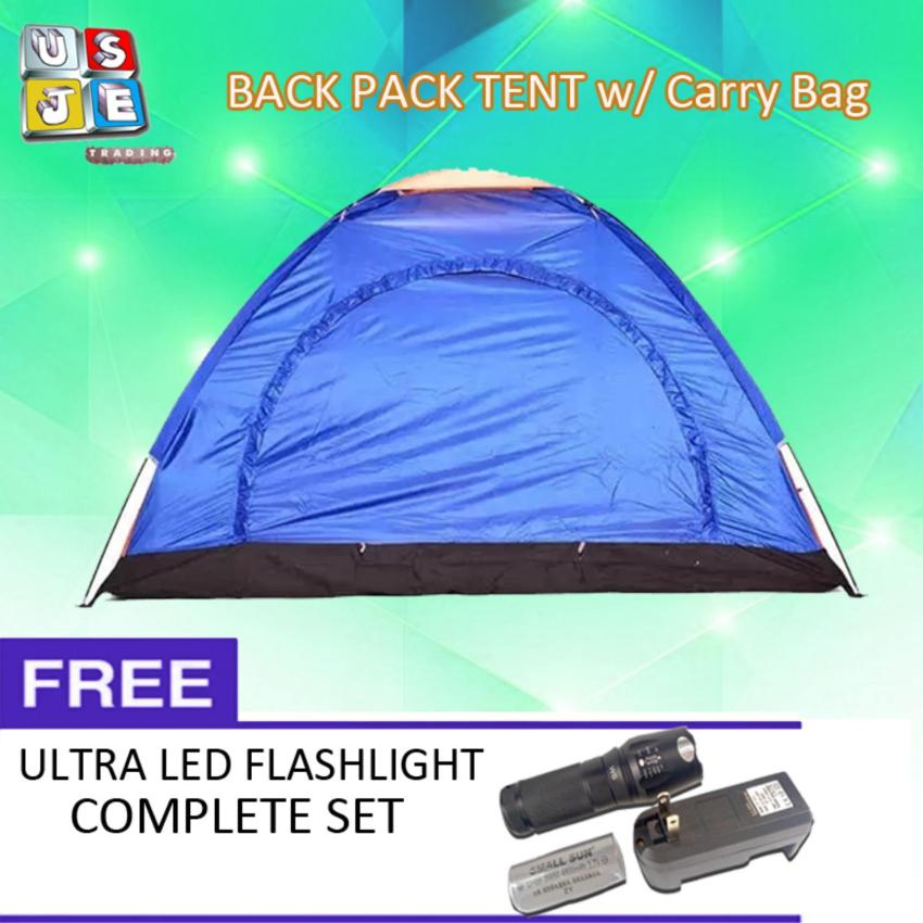 Lightweight 4-6 Person Camping Backpacking Tent With Carry Bag(Multicolor) with FREE Zoomable LED Flashlight