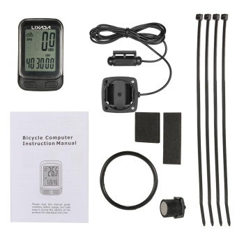 Lixada Bike Computer Multi Functions Wired / Wireless BicycleCycling Computer Speedometer Odometer with LCD Screen Backlight -intl