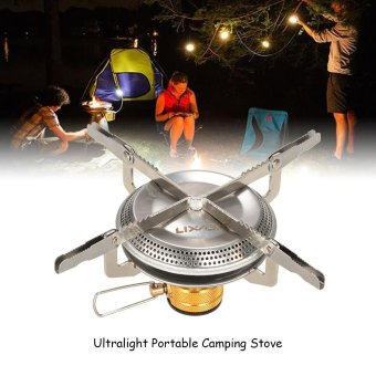 Lixada Ultralight Portable Outdoor Camping Gas Stove HikingBackpacking Picnic Cooking Stove 3500W - intl