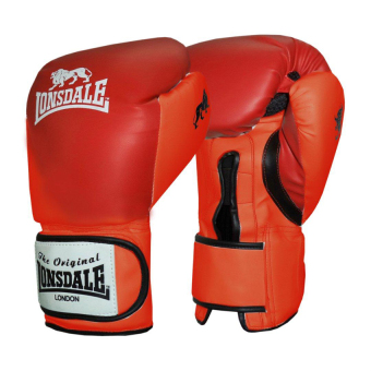 LONSDALE FIGHT GLOVES (RED) 14OZ