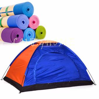 "LOVE&HOME 6-Person Dome Camping Tent (Multicolor) With 1 Of Yoga Mat 68""x24"" (Random Color) Price Philippines"