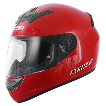 LS2 Full-Face FF352 Rookie Mono Helmets (Ferrari Red)
