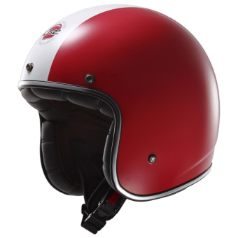 LS2 OF583 Italia Bobber Helmet (Green/White/Red) - picture 2